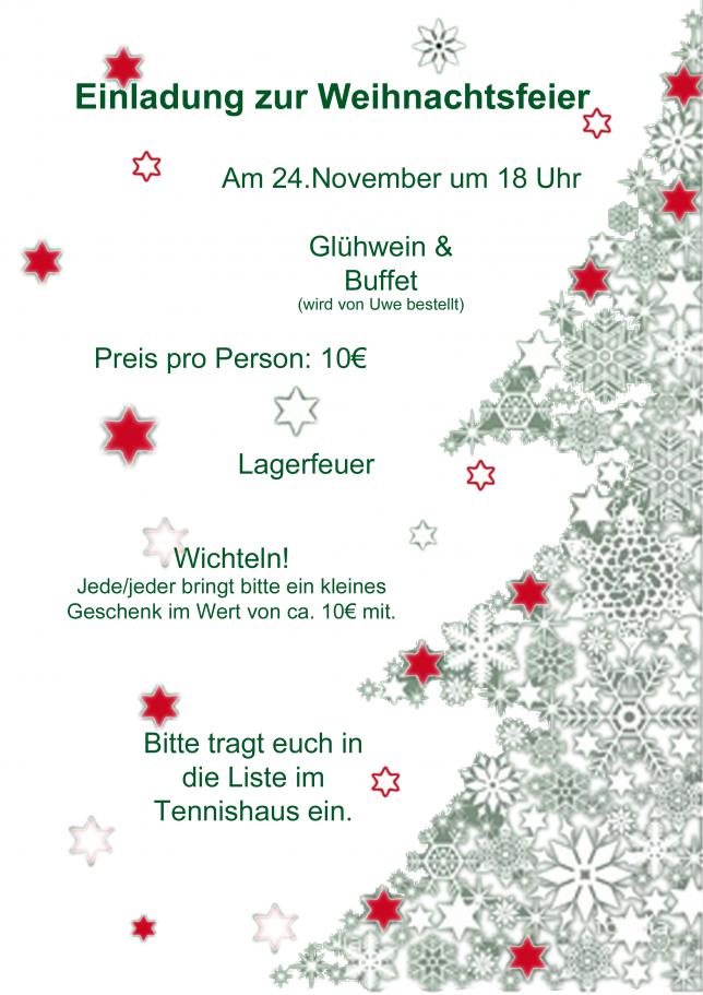 Einladung Zur Weihnachtsfeier.Abgesagt Einladung Zur Weihnachtsfeier Am 24 November